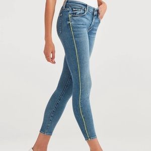 7 For All Mankind Neon Piping Skinny Ankle Jeans